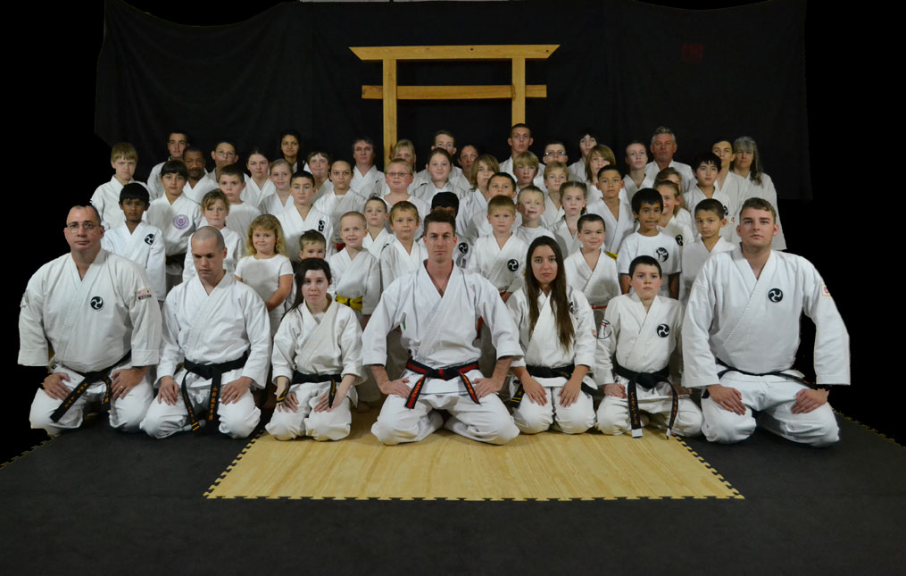 Kaufmann's Karate students group photo
